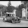 Hupmobile & Mrs. Dennison, car-- 1927 Hupmobile, Southern California 1927