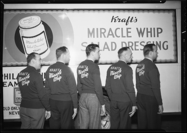 Bowling team and their new sweaters, Southern California, 1935