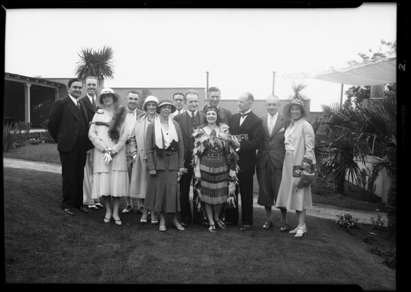 Hollywood breakfast club, Southern California, 1931