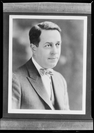 Portrait of Mr. Morton May, May Co., Southern California, 1930