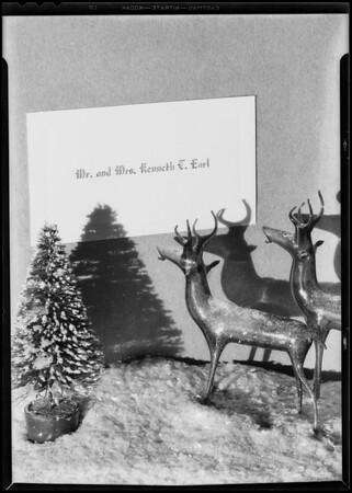 Christmas card setup, Southern California, 1930