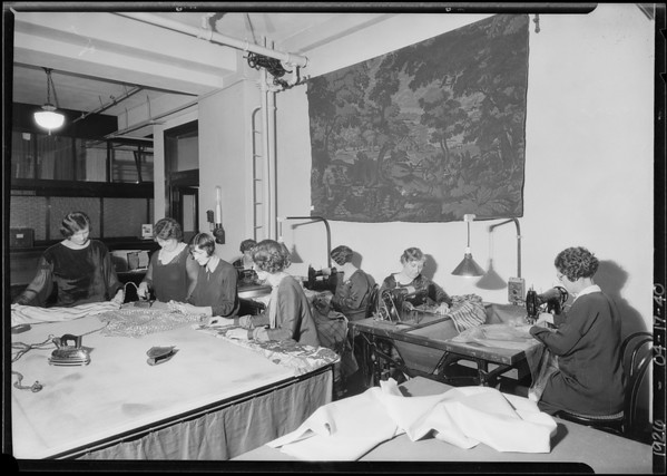 Drapery workroom, Los Angeles, CA, 1926