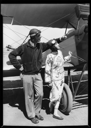 Chinese girl at Clover Field [Santa Monica Airport], Santa Monica, CA, 1927