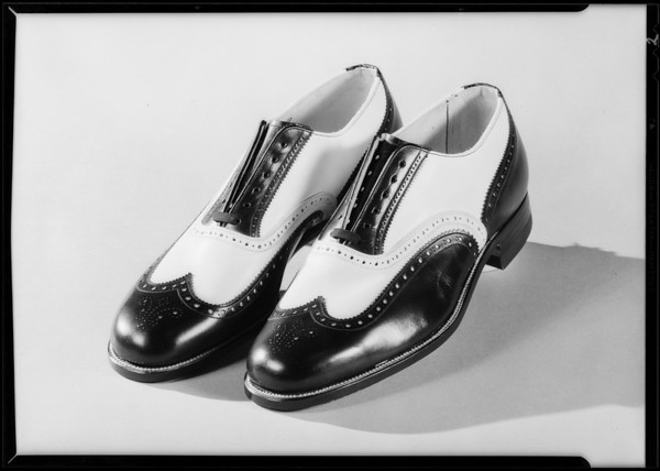 Men's shoes, suit & shirts, Southern California, 1930