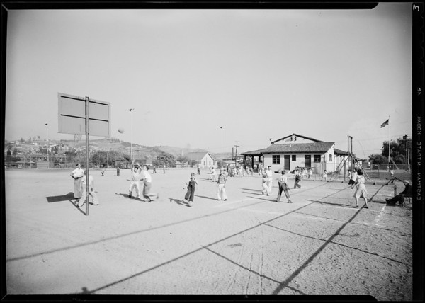 Benedict playground, Playground Department, Southern California, 1931