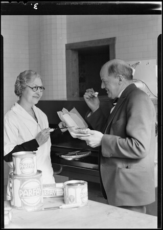 Mr. Eckdahl and Kate Vaughn of Express, Southern California, 1930