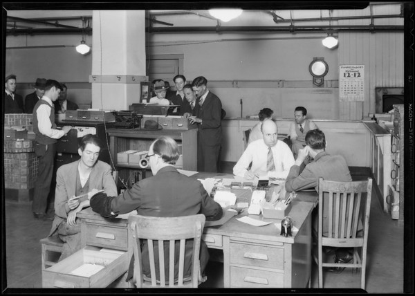 Municipal service bureau for men and cup, Southern California, 1931