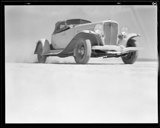 Auburn runs at Muroc Dry Lake, Southern California, 1932