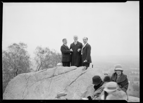 Ceremonies at Mount Rubidoux, Riverside, CA, 1926