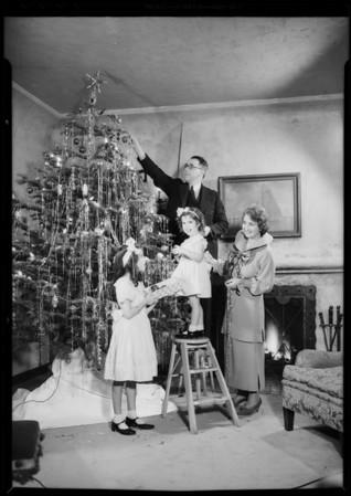 Christmas card photo, Southern California, 1934