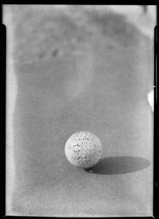 Golf ball that has been used, Southern California, 1930