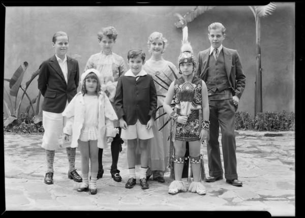 Group of kiddie players at B'nai B'rith Temple, Southern California, 1930