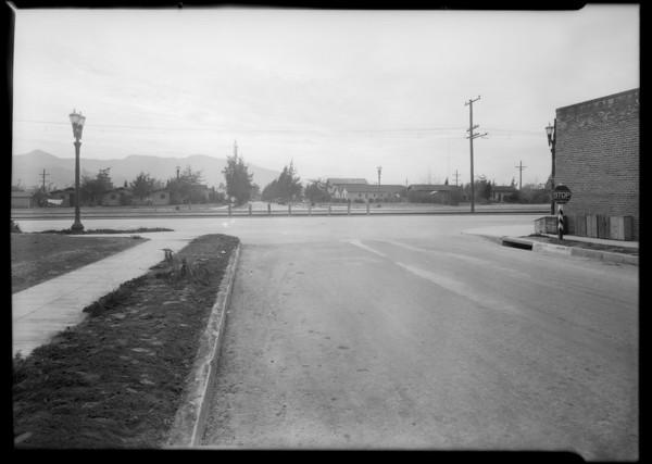 Intersection, Linden Avenue and West Glenoaks Boulevard, Glendale, CA, 1930