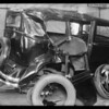 Wrecked Buick sedan, H.R. Jones, owner, Southern California, 1931