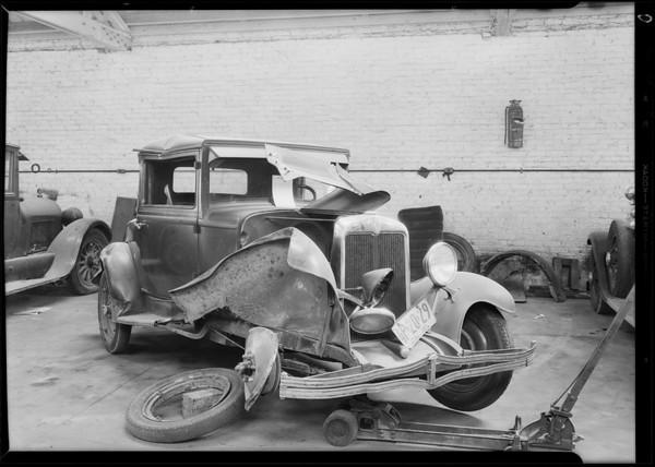 Chevrolet coupe, Leona Pratt owner, Southern California, 1931