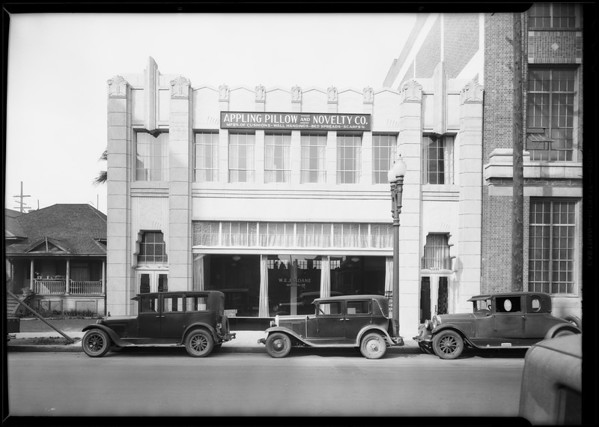 Appling Pillow Co., 1035 South Santee Street, Los Angeles, CA, 1931