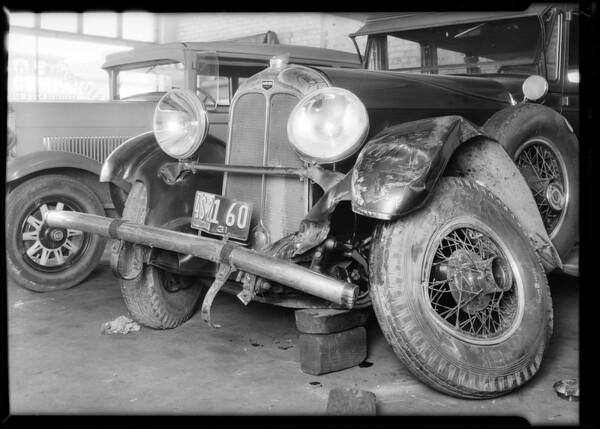 Auburn sedan, Joseph Henyan, owner, Southern California, 1931