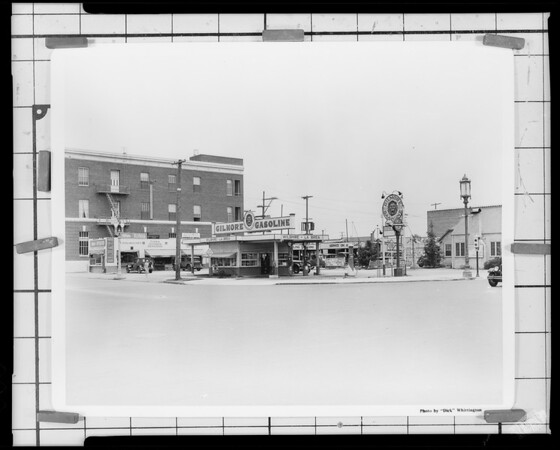 Gilmore station, northeast corner of La Brea Avenue & Wilshire Boulevard, Los Angeles, CA 1928