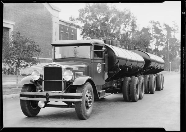 Tank truck and trailer, El Camino Gas Co., Southern California, 1930