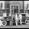 Cord front wheel drive in front of National Auto School, Southern California, 1929