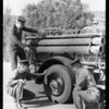 Beverly Hills fire truck & chief, also Mr. Morgan, Southern California, 1928