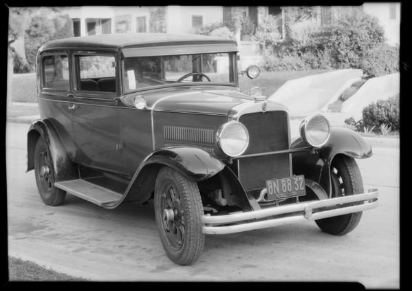 1929 Nash sedan, J.A. Hull, owner, Southern California, 1931