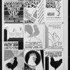 Booths, show room, posters, poultry show, Southern California, 1930