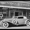 Paul Whiteman's Cord coupe, MacDonald-Dodson Tire Co., Southern California, 1930