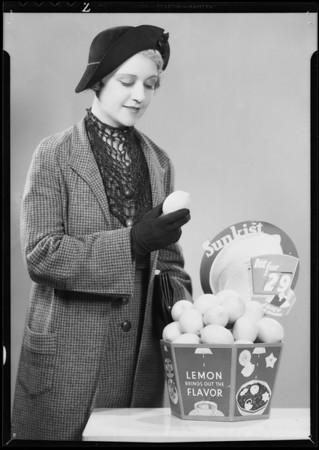 """Lemons"" trade promotion,  Southern California, 1935"