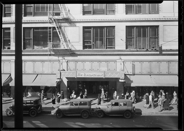 Broadway Department Store for composite, Los Angeles, CA, 1930