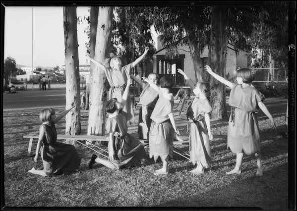 Christmas festival, Queen Anne playground, Los Angeles, CA, 1930