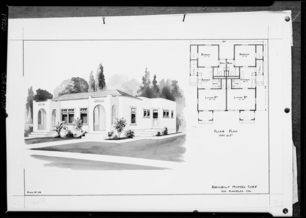 Copies of wash drawing, Southern California, 1926