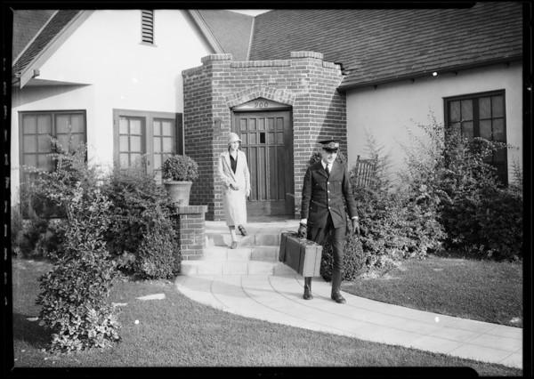 Lantern slides, courtesy at door, etc., Southern California, 1927