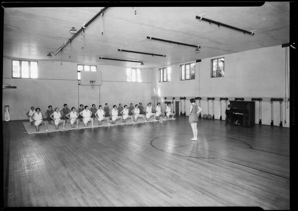 Gym at 360 South Westlake Avenue, Los Angeles, CA, 1930