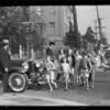Safety measures for autos & pedestrians, Southern California, 1931