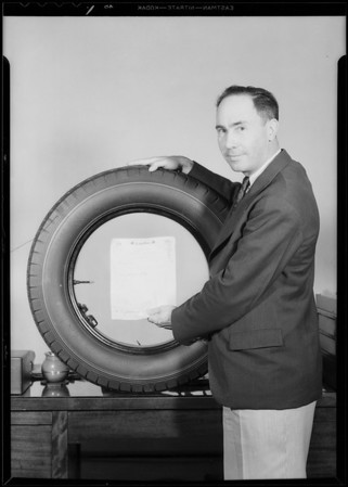 Olympic tire covers, etc., Southern California, 1928
