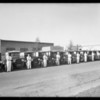 Fleet of trucks at Beverly Hills Laundry, Southern California, 1927