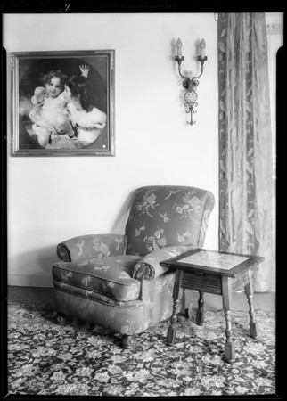 Furniture for Mrs. Tolder, Southern California, 1930
