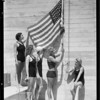 Dedication of Olympic pool, Los Angeles, CA, 1932