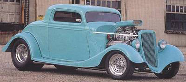 Tom 's first project. 1934 Ford Coupe.  It was a beauty.