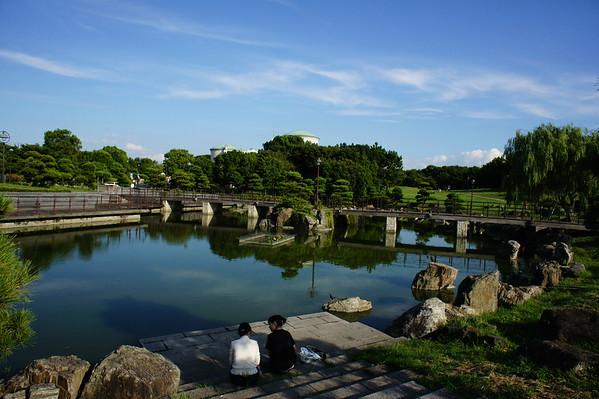 Bridge on pond