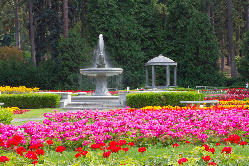 Flower Garden with Fountain
