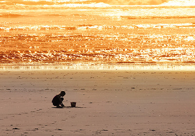 Child at Beach Silhouette