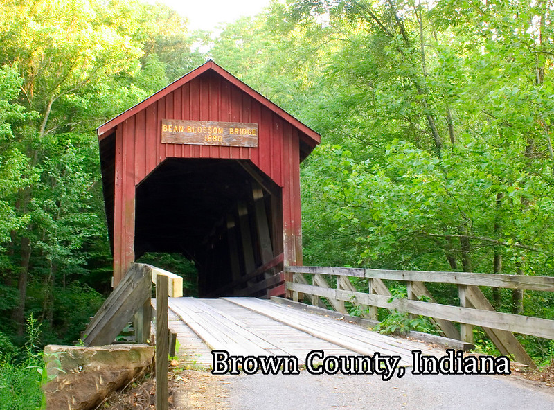 BC-224 Bean Blossom Bridge from Road