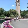 Clocktower with Flowers