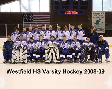 WHS hockey team pictures 2008-09