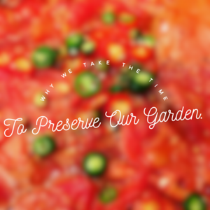 Why we make all our tomato sauce