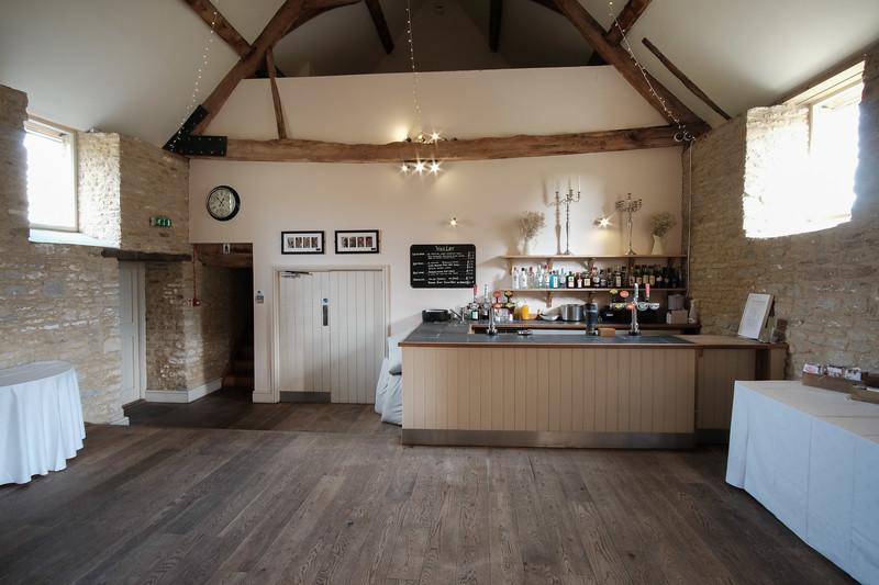 The bar area at Wick Far, Farleigh Hungerford.