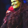 Idina Menzel (Elphaba) at the curtain call of Wicked, held at the Apolloa Victoria Theatre, London, England on 27th September 2006