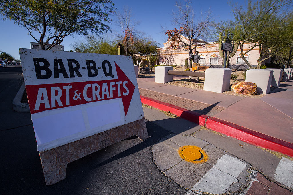 Special events sign in front of Maricopa County Municipal Center in Wickenburg